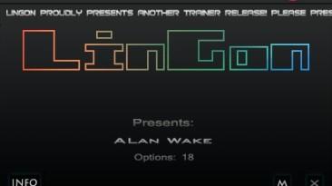 Alan Wake: Трейнер/Trainer (+18) [1.06: Steam Version/Updated] {LinGon}
