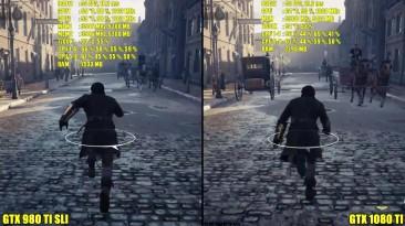 Assassin's Creed Syndicate GTX 1080 TI Vs GTX 980 TI SLI Ultra 1440p Сравнение