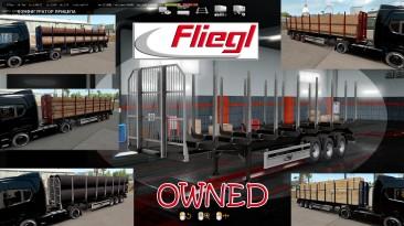 """Euro Truck Simulator 2 """"Лесовоз Fliegl (в собственность) v1.0.6"""""""