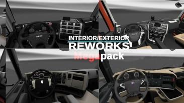 "Euro Truck Simulator 2 ""Мод Interior/Exterior Reworks Mega Pack v1.3.1 by AlexeyP"""