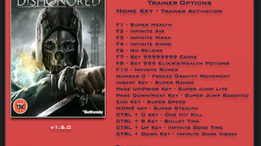 Dishonored: Трейнер/Trainer (+20) [1.5 / Update 5] {LinGon}