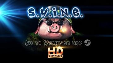 Анонсирующий трейлер ремастера юмористической стратегии S.W.I.N.E.