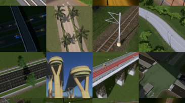 "Cities: Skylines ""Network Skins 2 (Sunset Harbor compatible)"""