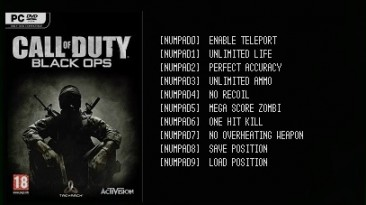 Call of Duty: Black Ops: Трейнер/Trainer (+8) [Update 27.01.2016] {LIRW / GHL}