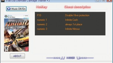 FlatOut - Ultimate Carnage: Трейнер (+3) [1.1] {H4XX0R}