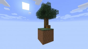 """Minecraft """"SkyBlock 1.0 - первая версия знаменитой карты"""""""