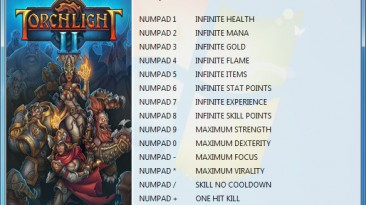 Torchlight 2: Трейнер/Trainer (+14) [1.25.5.2] {GRIZZLY / PlayGround.ru}