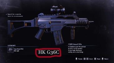 "Resident Evil 3 ""Замена Оружие - HK-G36C (CQBR Assault Rifle)"""