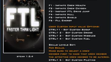 FTL ~ Faster Than Light: Трейнер/Trainer (+16) [1.5.4] {LinGon}