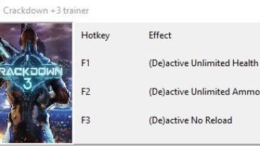 Crackdown 3: Трейнер/Trainer (+3) [UPD: 17.02.19] {Xoen}