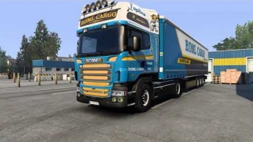 "Euro Truck Simulator 2 ""Звуковой мод Scania V8 v11.5 (1.40.x)"""