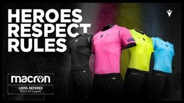 """PES 2019 """"NEW Macron UEFA Referee Kits by Hawke"""""""