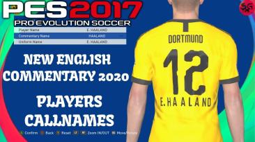 """PES 2017 """"Более 28.000 Английских произношений имён игроков"""""""