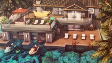 "The Sims 4 ""Плавучий дом для отпуска"""