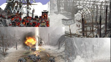 "Warhammer 40,000: Dawn Of War - Dark Crusade ""Карта - Ice River"""