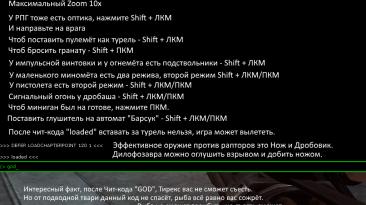 Turok (2008): Консоль для Чит-кодов
