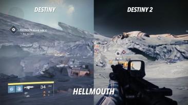 Сравнение луны в Destiny и Destiny 2: Shadowkeep