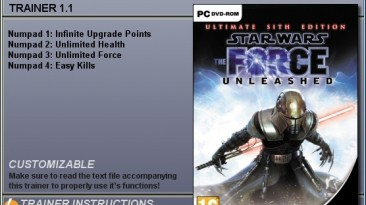 Star Wars: The Force Unleashed - Ultimate Sith Edition: Трейнер (+4) [1.1] {CheatHappens}