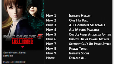 Dead or Alive 5 - Last Round: Трейнер/Trainer (+9) [1.0.2 - 1.0.2А] {FLiNG}