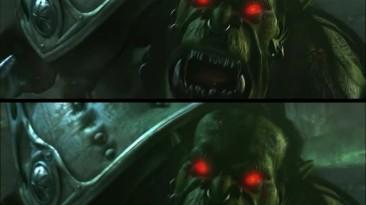 Warcraft 3 - Сравнение улучшенного ролика концовки орков и оригинала