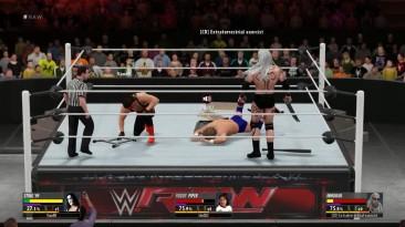 """WWE 2K16 """"Экстремальный и очень прикольный Triple Threat Match """""""