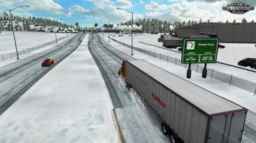 "American Truck Simulator ""Карта Dalton and Elliot Extreme - Winter Edition v7.1.21 (1.39.x)"""