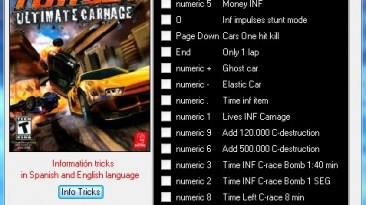 FlatOut - Ultimate Carnage: Трейнер (+19) [All Versions] {Delta10FY}