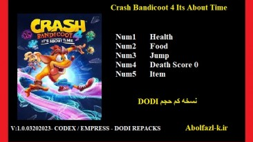 Crash Bandicoot 4: It's About Time: Трейнер/Trainer (+5) [1.0] {Abolfazl.k}
