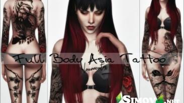 "Sims 4 ""Full Body Asia Tattoo"""