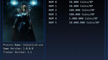 Injustice 2: Трейнер/Trainer (+6: Coins/XP) [1.1] {'pSYcHo}