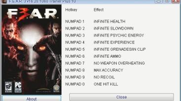 F.E.A.R 3: Трейнер/Trainer (+10) [16.20.1060] {GRIZZLY/PlayGround.ru}