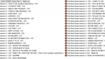 """One Piece Pirate Warriors 3 """"OST"""""""