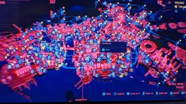 Утекала карта Найт-Сити из Cyberpunk 2077