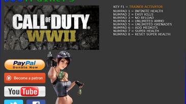 Call of Duty: WWII: Трейнер/Trainer (+8) [1.0] {BooBoo}