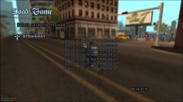 "Grand Theft Auto: San Andreas ""Transparent Menu"""