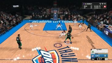 Бросаем, сидя на полу в НБА 2К