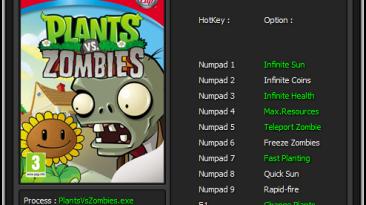 Plants vs. Zombies: Трейнер/Trainer (+10) [1.2.0.1096] {Enjoy / ETR}