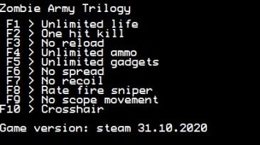 Zombie Army Trilogy: Трейнер/Trainer (+10) [Steam] {LIRW / GHL}