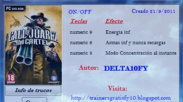 Call of Juarez - The Cartel: Трейнер (+3) [1.0] {Delta10FY}