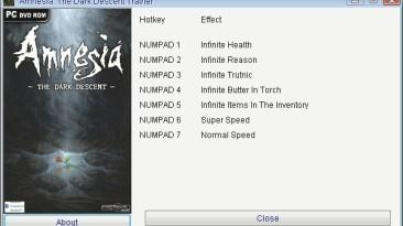 Amnesia - The Dark Descent: Трейнер/Trainer (+7) [1.0.1] {GRIZZLY/PlayGround.ru}