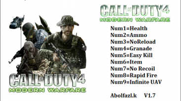 Call Of Duty: Modern Warfare: Трейнер/Trainer (+9) [v1.7] {Abolfazl.k}
