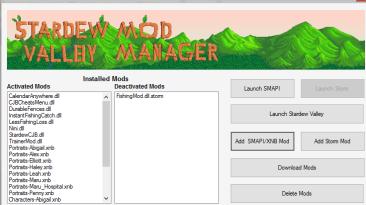 """Stardew Valley """"ModManager (SDVMM)"""""""