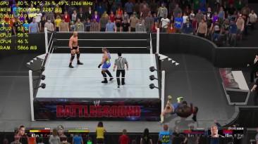 """WWE 2K15 """"Тест GTX 970 NON-OC - DSR - 1620p AA OFF"""""""