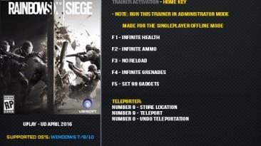Tom Clancy's Rainbow Six: Siege: Трейнер/Trainer (+7) [Update 4 April 2016] {LinGon}