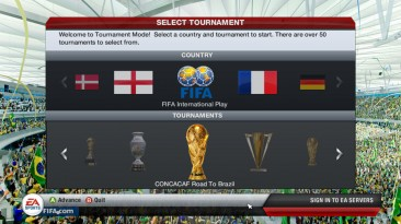 "FIFA 13 ""Road to World Cup 2014 Expansion Patch"""