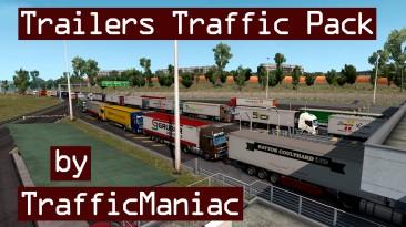 "Euro Truck Simulator 2 ""Пак прицепов в трафик v6.7"""