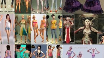 """Sims 2 """"пак женской одежды"""""""