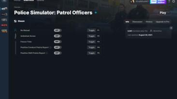 Police Simulator: Patrol Officers Трейнер/Trainer (+5) [9-1-21] {MrAntiFun / WeMod}