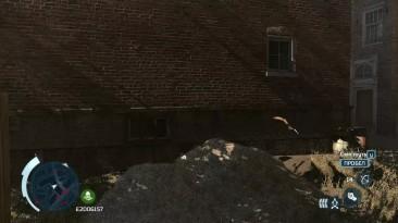 Глюк в игре Assassin's Creed 3, оружие в воздухе висит