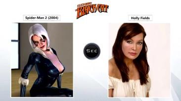 Все актёры озвучевшие персонажа чёрная кошка в играх про человека паука